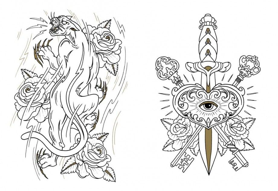 the tattoo coloring book Google Search tattoo flash