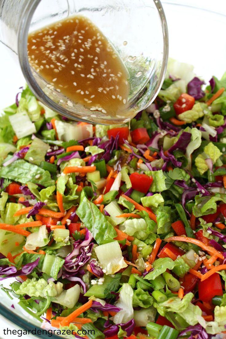 Asian Chopped Salad with Sesame Vinaigrette Vinaigrette
