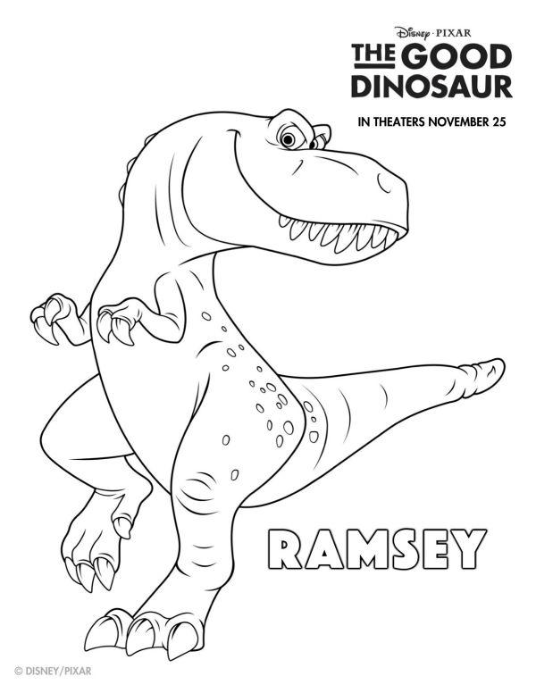 disney the good dinosaur free printable ramsey coloring
