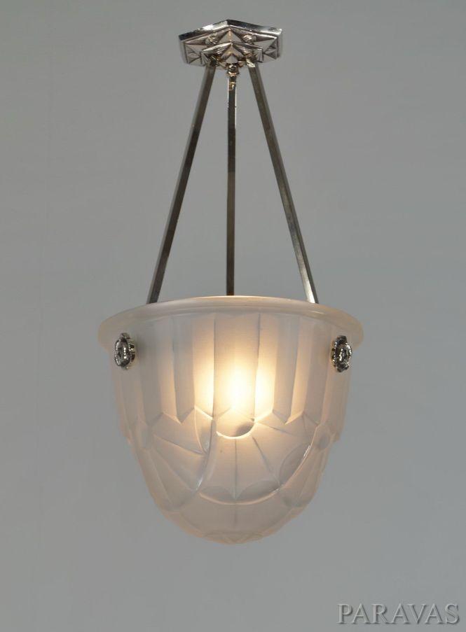 Francis Hubens Degué French 1930 Art Deco Chandelier Paravas Ebay