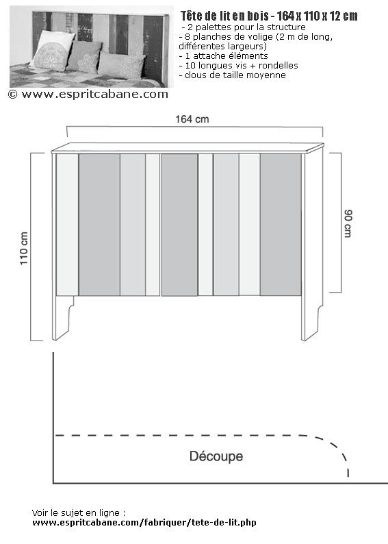 www espritcabane com img fabriquer plan tete de lit jpg