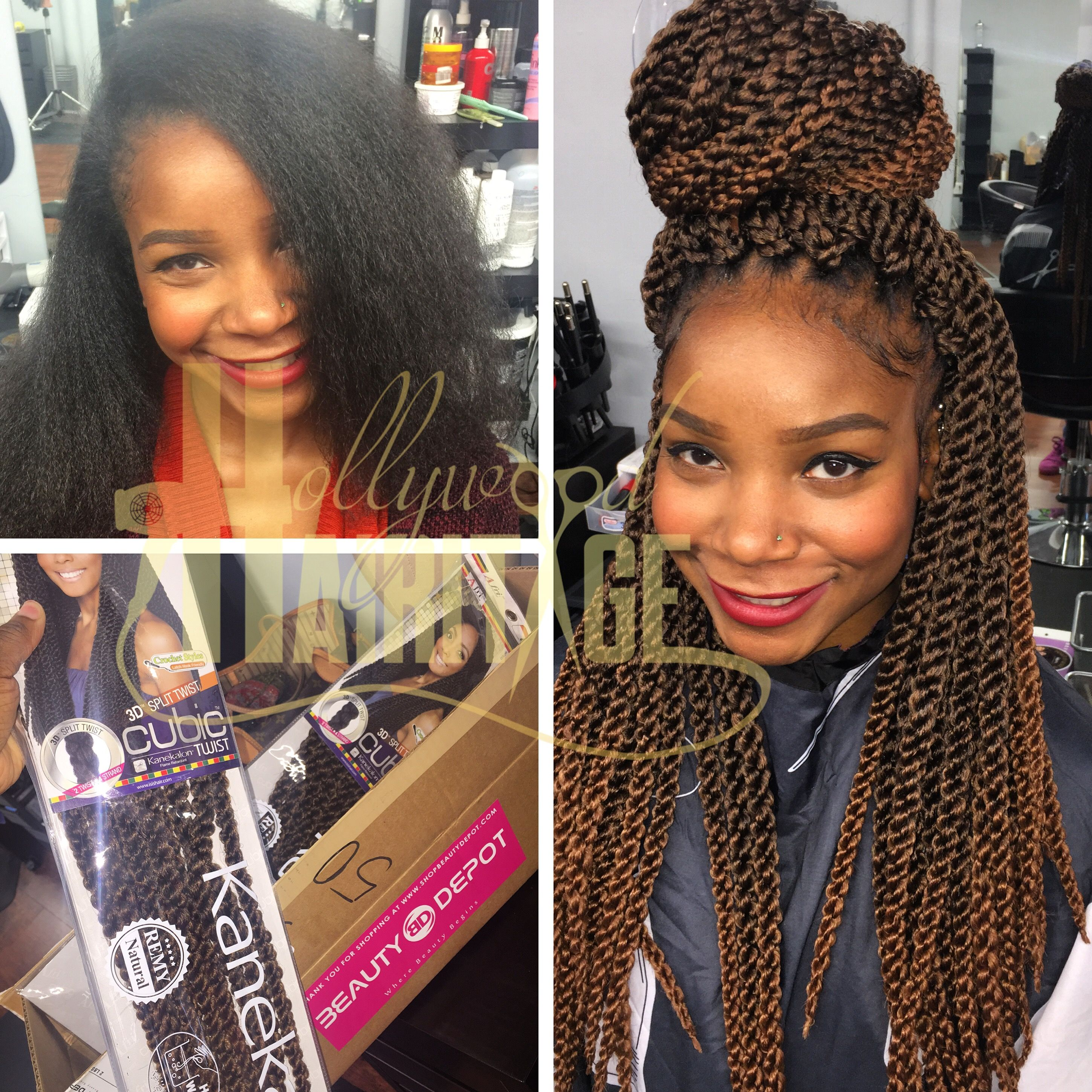 Cubic twist crochet braids