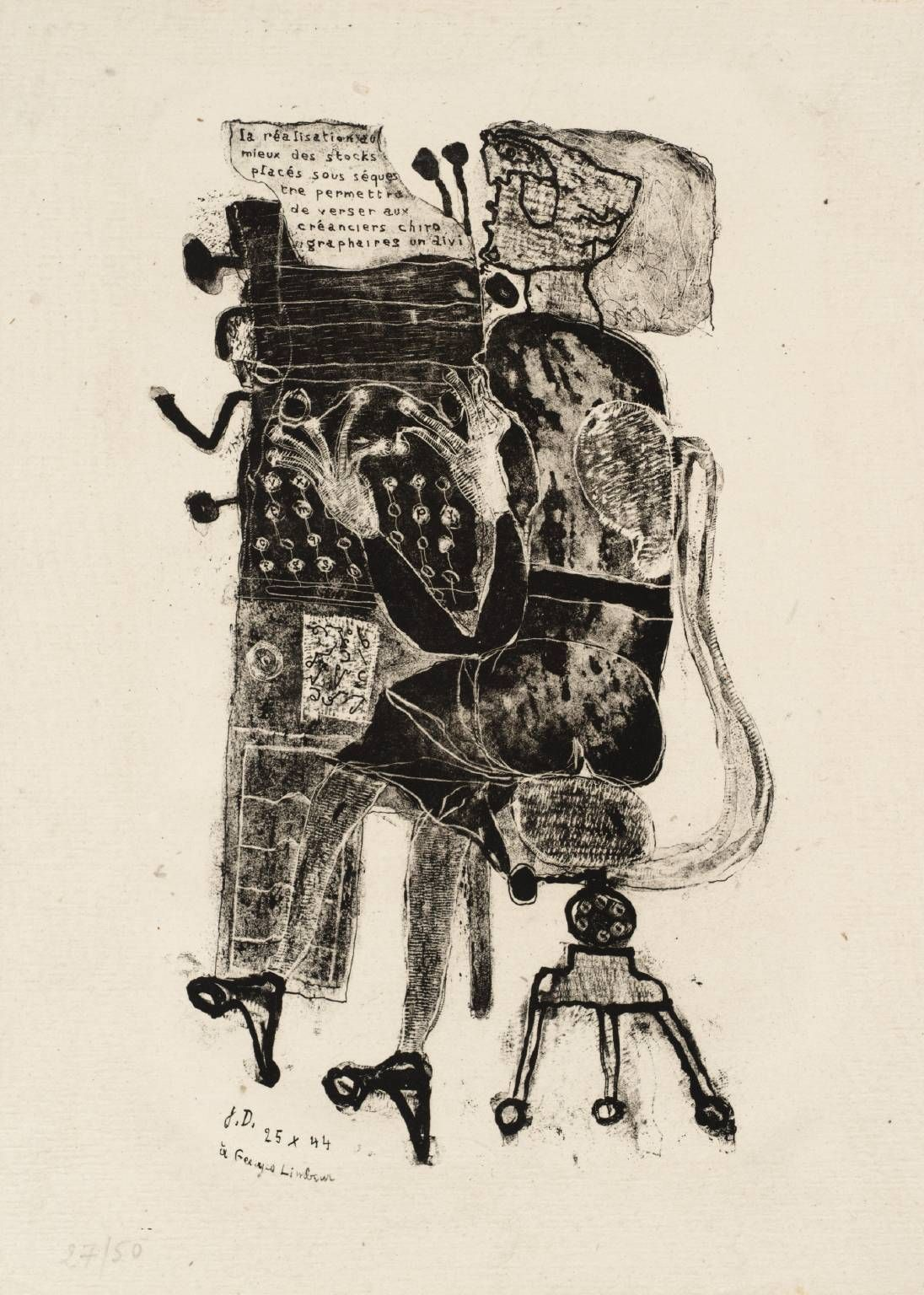 Jean Dubuffet Typist From Matter And Memory Published Adagp Paris And Dacs