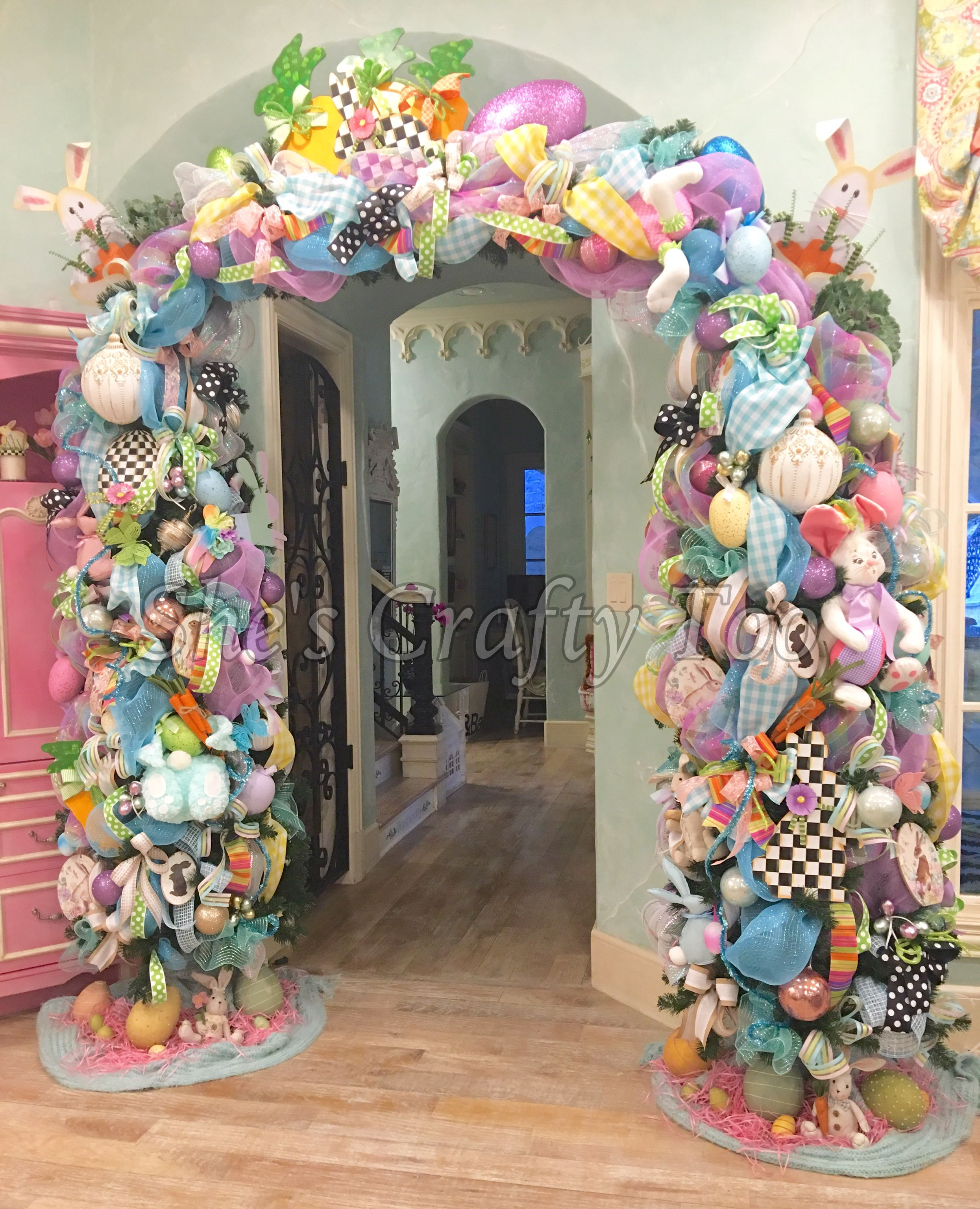 Easter Arch by She's Crafty Too at Turtle Creek Lane