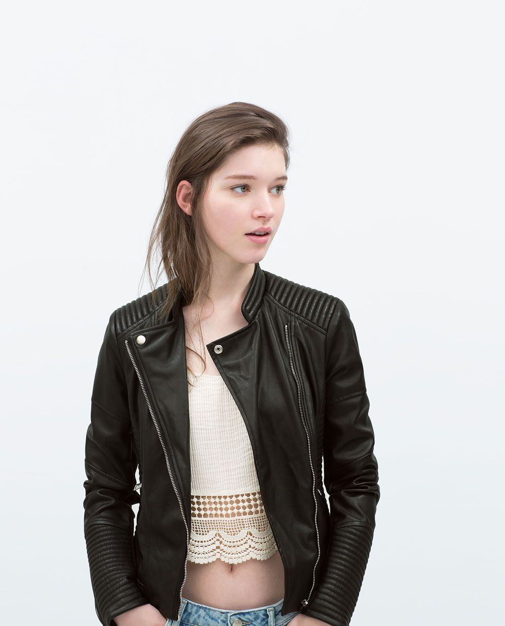 FAUX LEATHER BIKER JACKETJacketsJacketsWOMAN ZARA