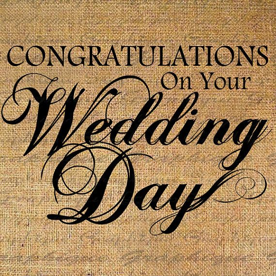 Congratulations WEDDING DAY Text Digital Collage by