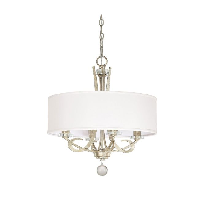 Hutton Winter Gold Four Light Chandelier With Drum Shade Capital Lighting Fixture Company