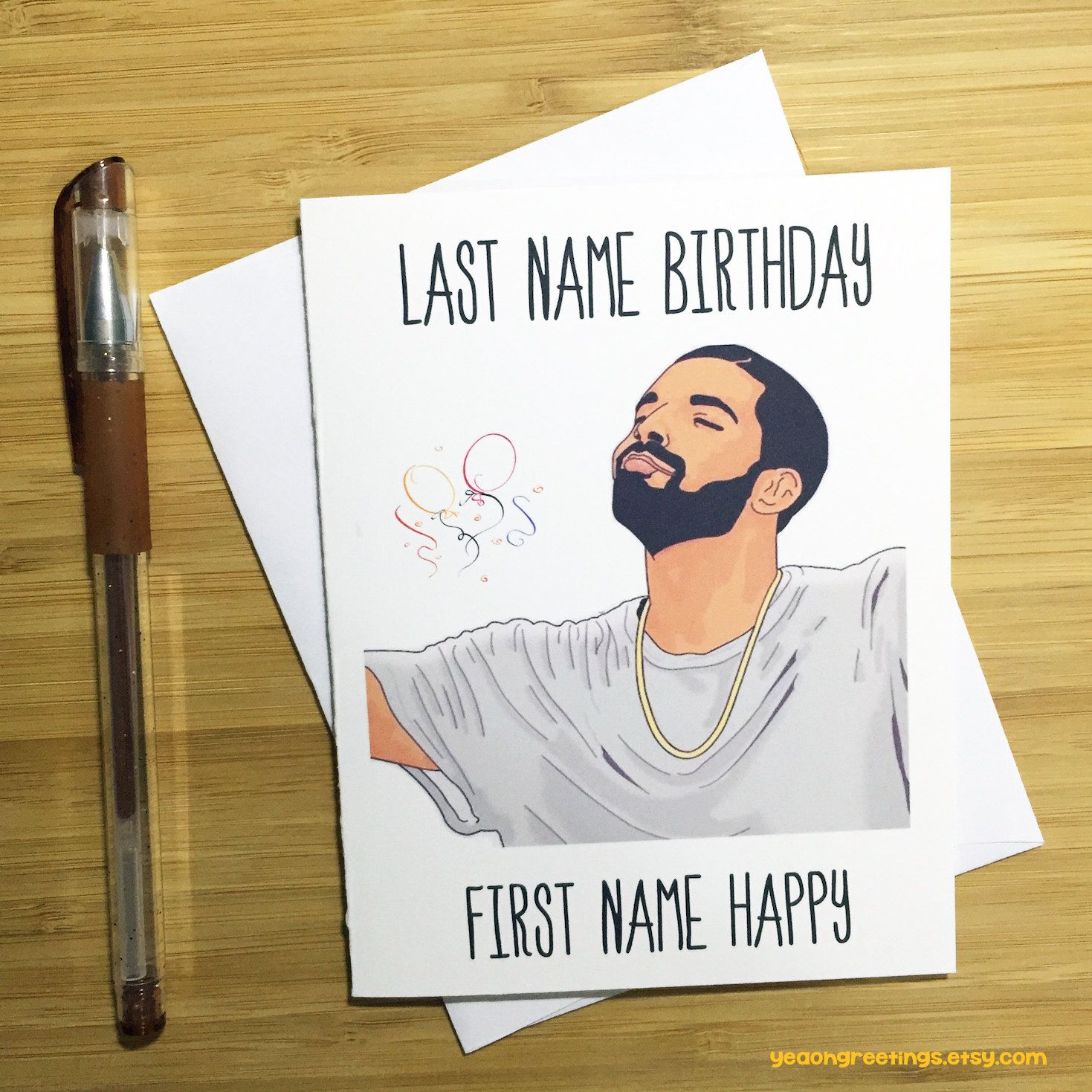 Drake Birthday Card Funny Birthday Card Happy Birthday