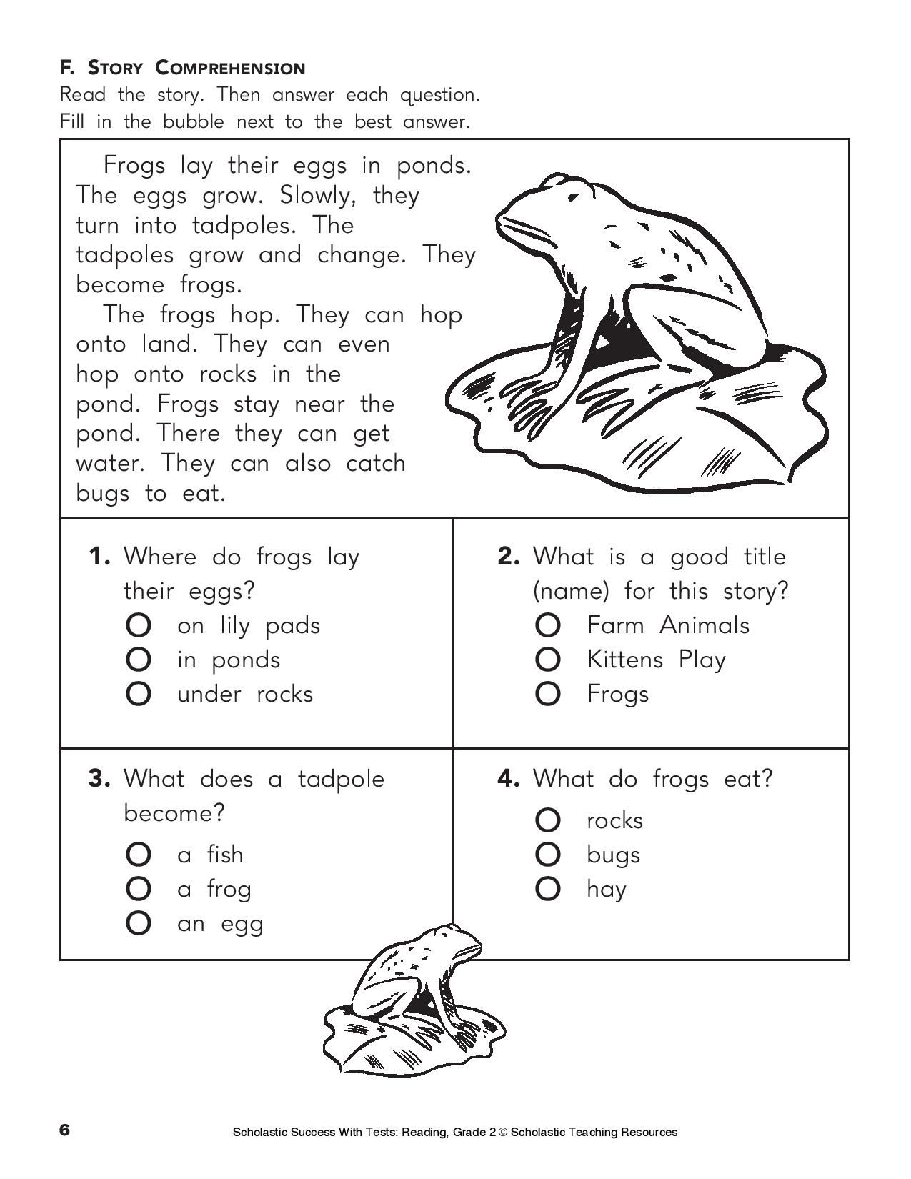 Give Your Child This Printable Reading Practice Test On Phonics Grammar And More Age 7