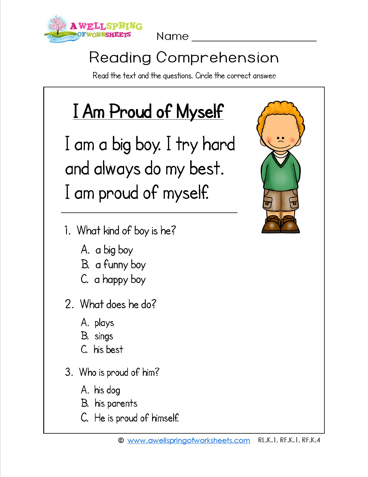 Every Kid Needs To Feel Proud Of Themselves And This Kindergarten Reading Comprehension