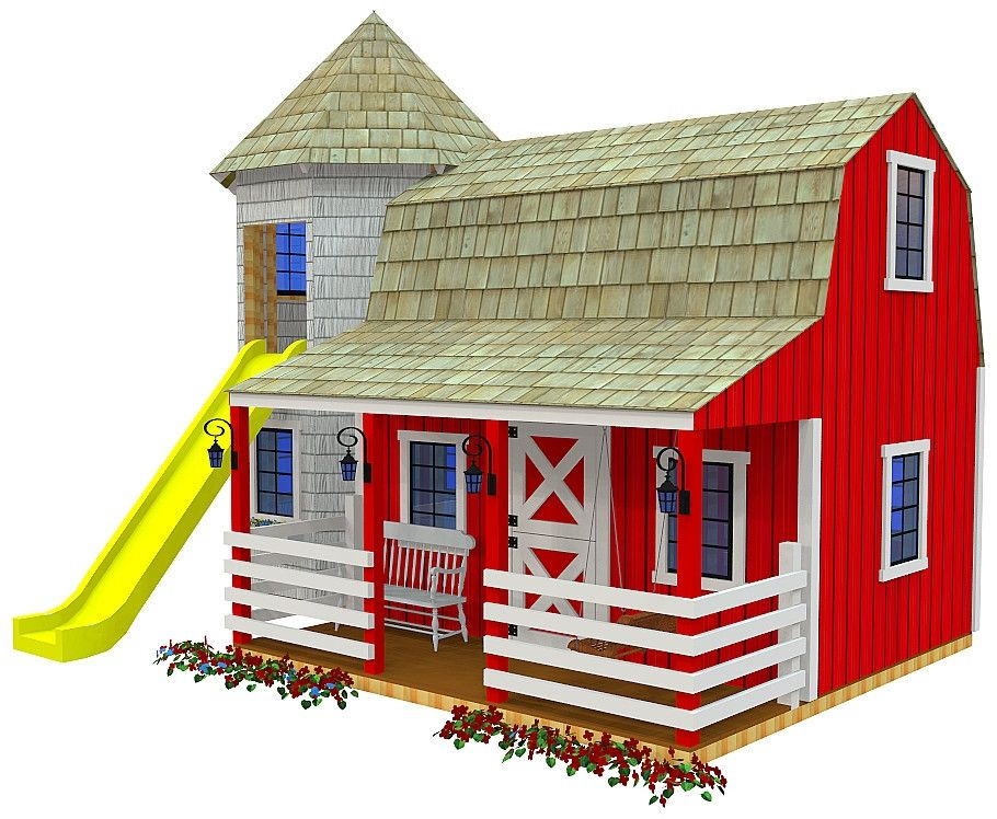 Barn & Silo Playhouse Plan Playhouse plans, Playhouses