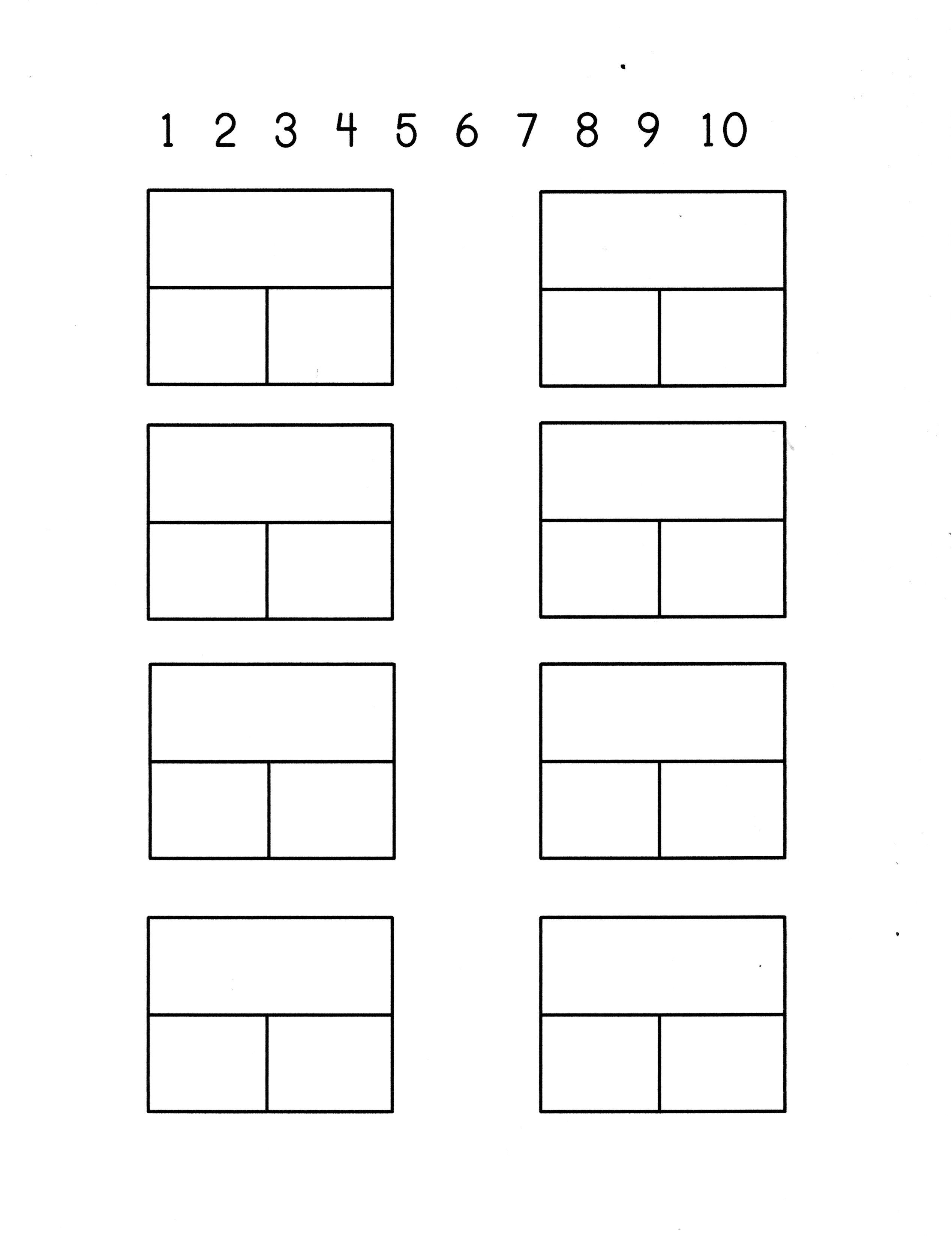 Part Part Whole Dominos Math Sheet Blank Number Line