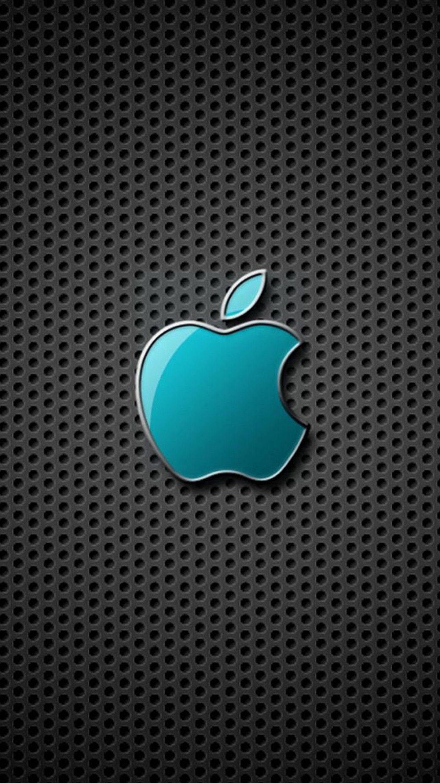 Blue, aqua, texture, logo, abstract, apple, wallpaper