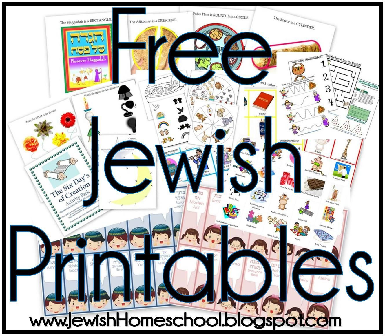 Free Jewish Printables For Homeschool Preschool Hebrew School Kindergarten From