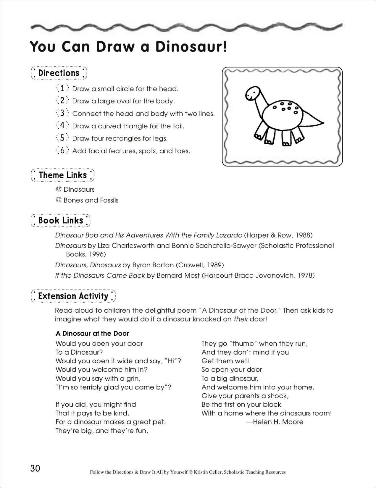 Draw A Dinosaur In 6 Steps Follow The Directions