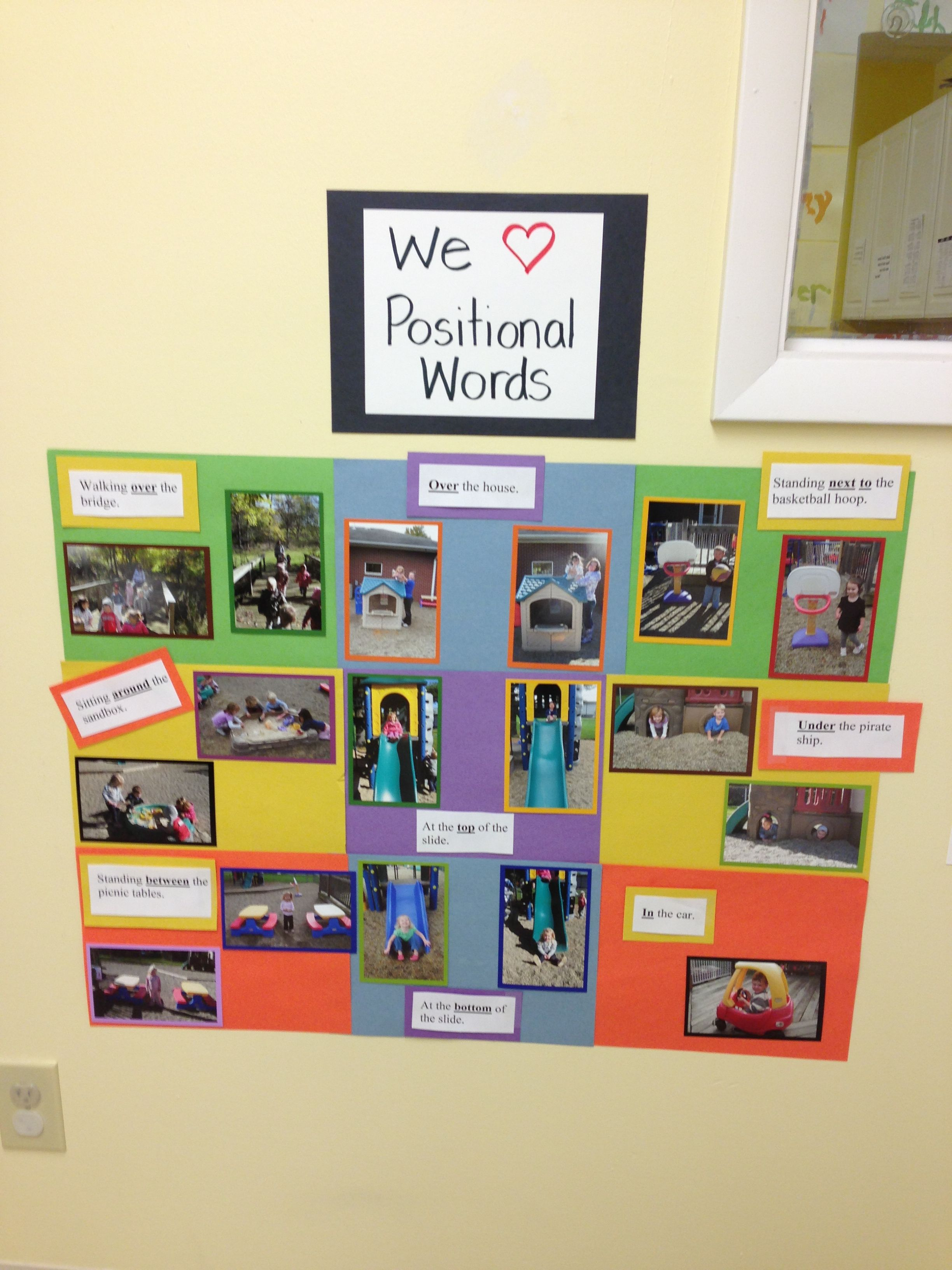 Takepictures Of Preschoolers Using Positional Words On The
