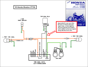 1988 honda shadow vt1100 turning signal wiring diagram