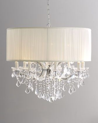 Shaded Cascade Chandelier Horchow This Would Be Beautiful For The