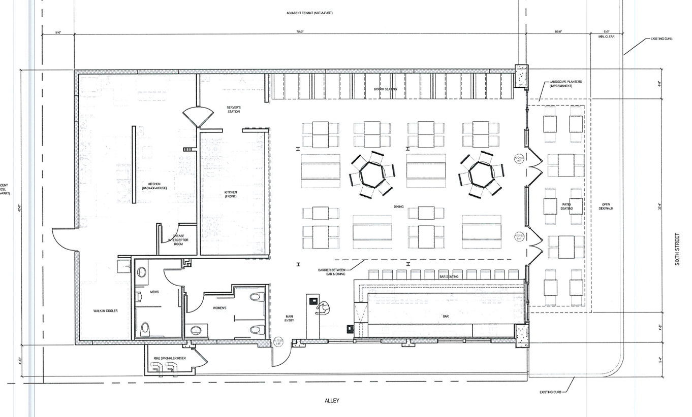 Chuck S Or Tucker S Bar Layout Floor Plan Except Stage