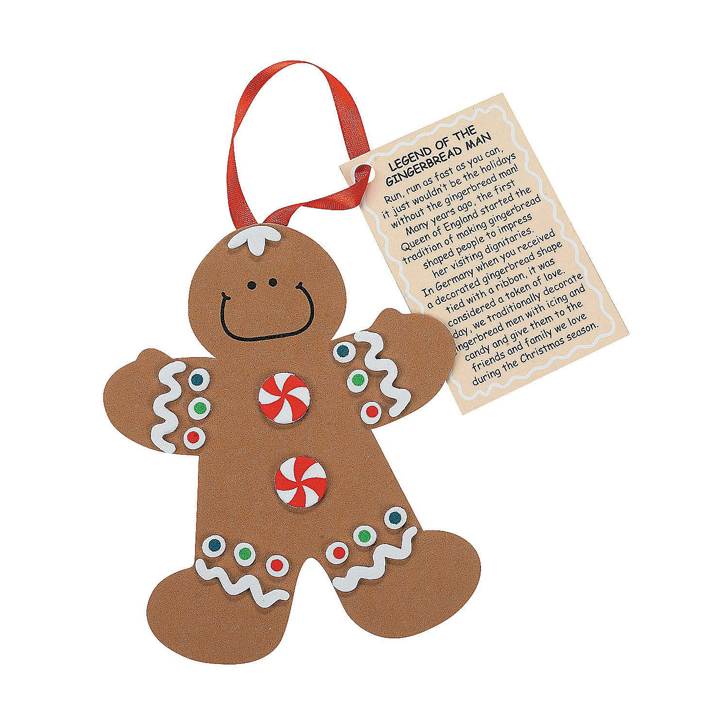Legend Of The Gingerbread Man Christmas Ornament Craft