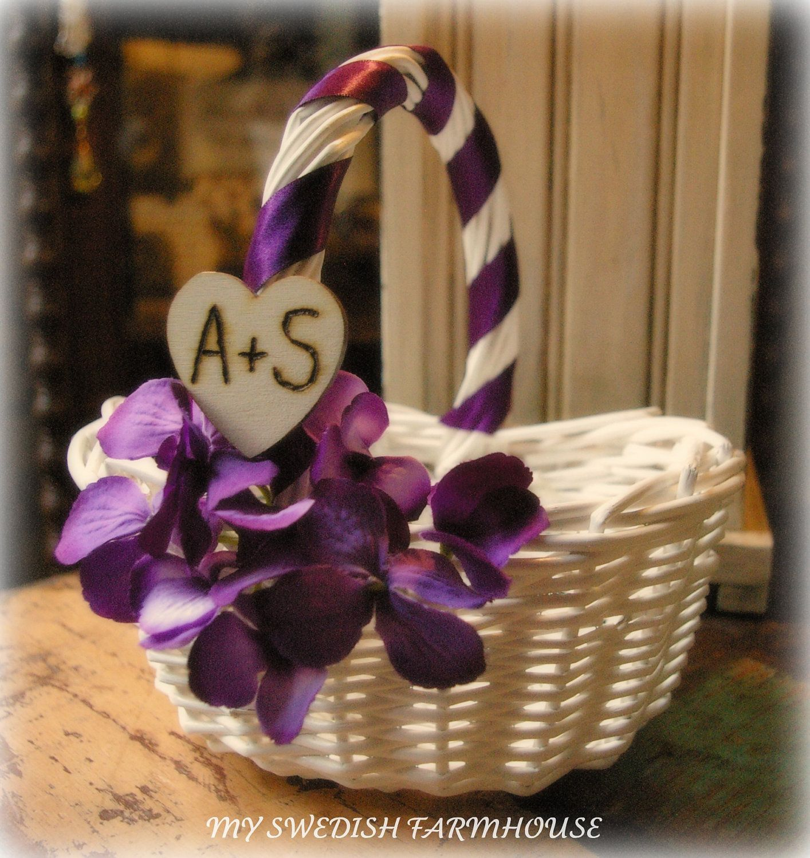 Flower Girl Basket Beach Rustic Wedding Decor Your Choice