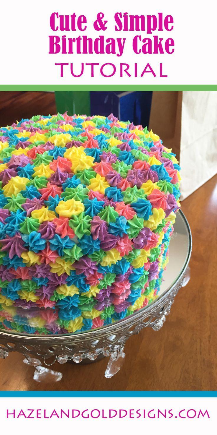 simple rainbow birthday cake, colorful cake, birthday fun
