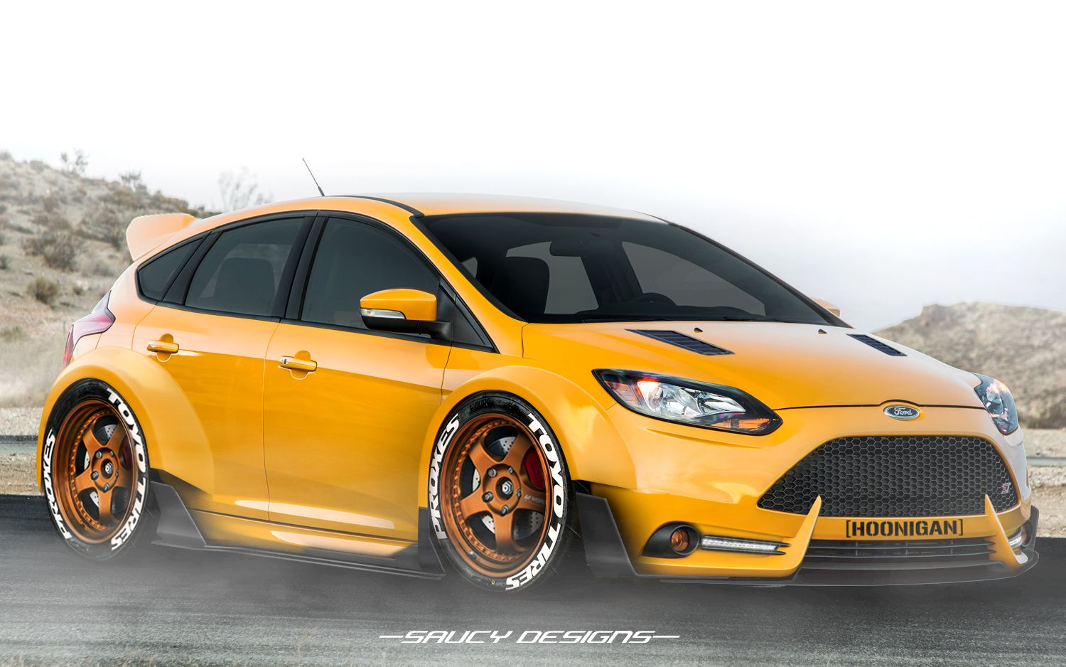 ford focus ST, widebody modded render Personal