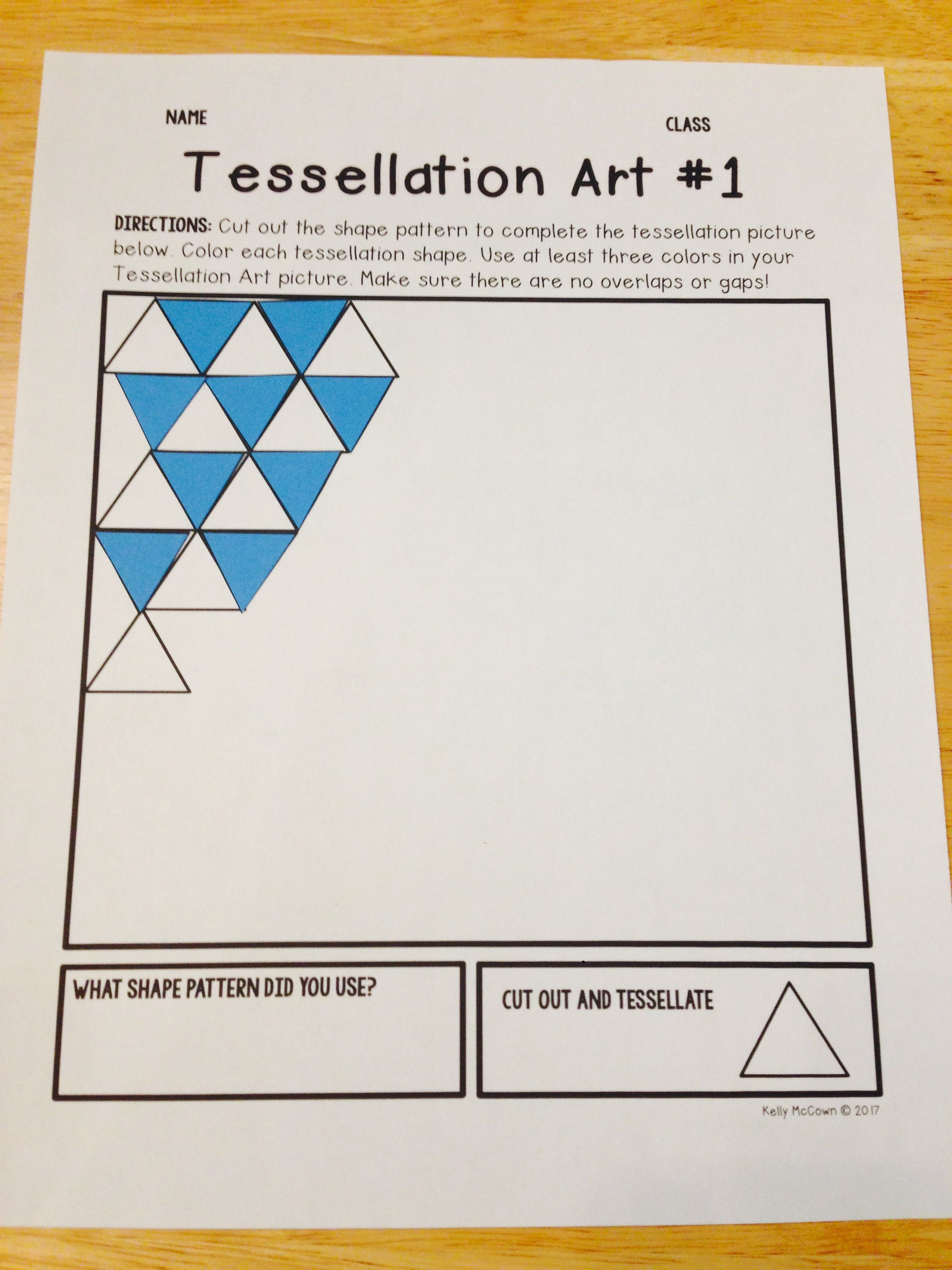 Tessellations Elementary Math Project