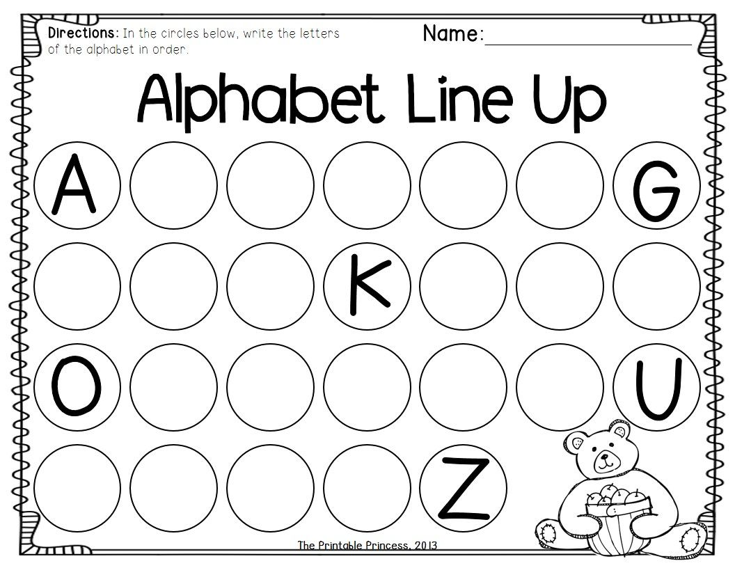 Fall Themed Kindergarten Worksheets Abc