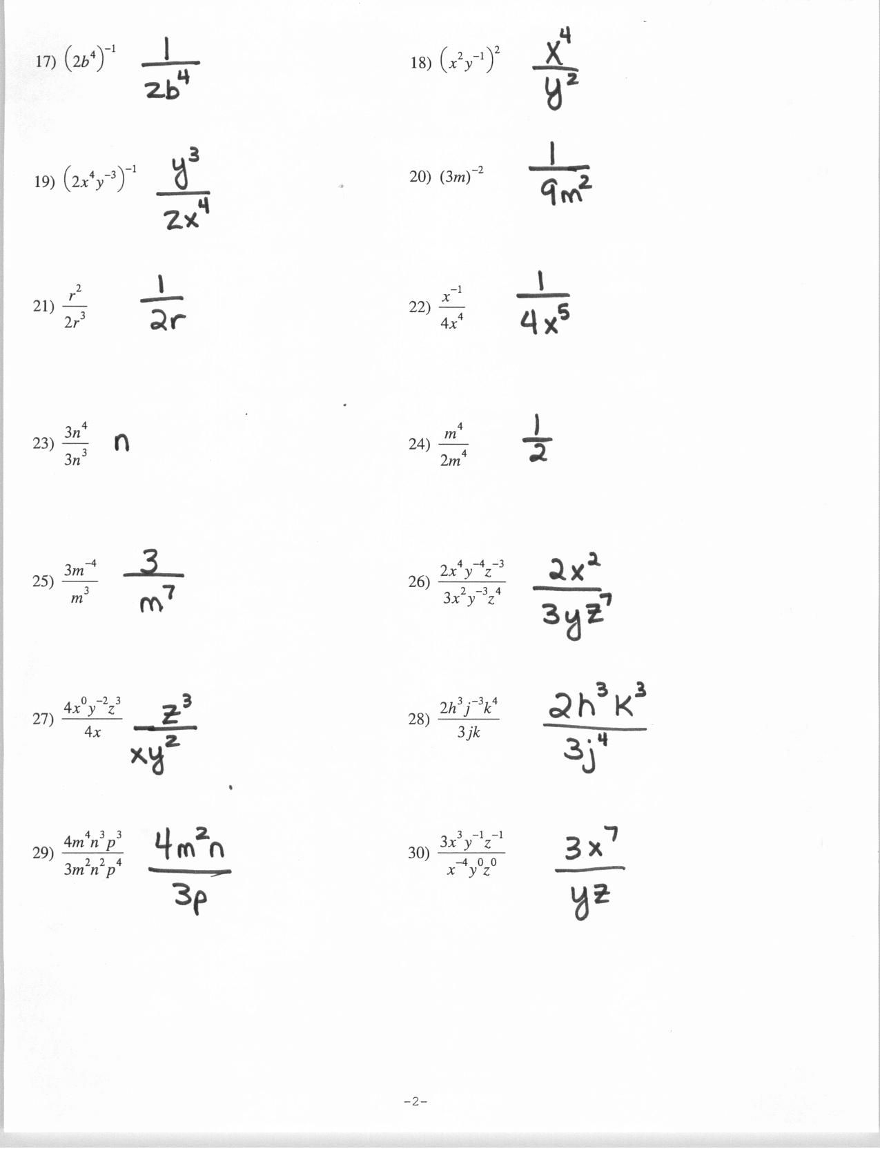 Homework Help Negative Exponents Used In Real Life