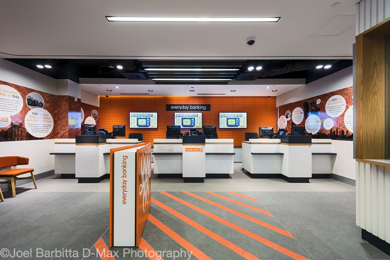 Bankwest Australia Digital Signage across the market