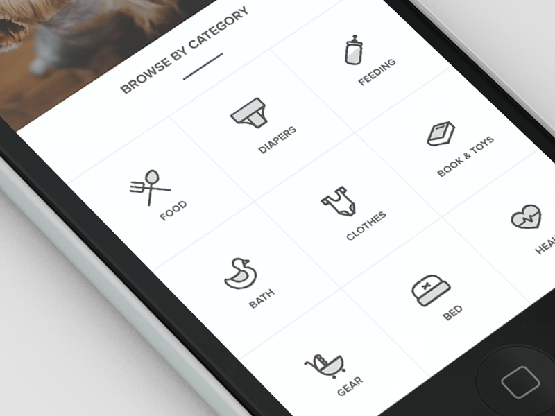 Sneak peek of current project User interface, Icons and Menu