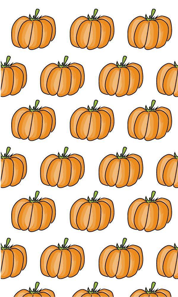 Cute pumpkin iPhone background Fall & Halloween