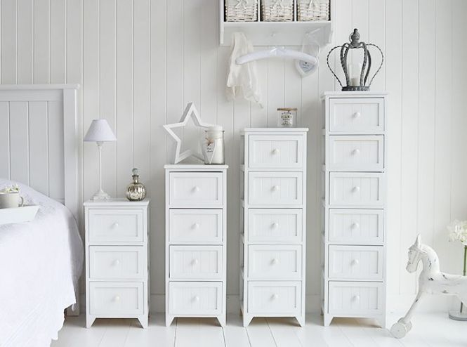 Maine Range Of White Bedroom Storage Furniture Diffe Sizes Chest Drawers