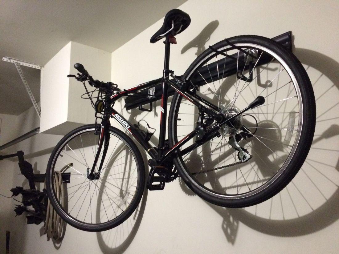 Garage bike racks diy using kobalt krail and hook storage