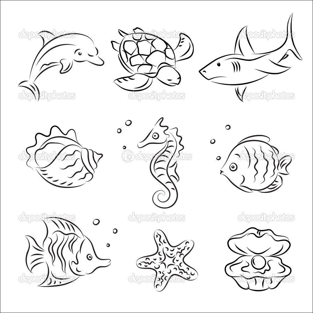 Sea Life Drawing