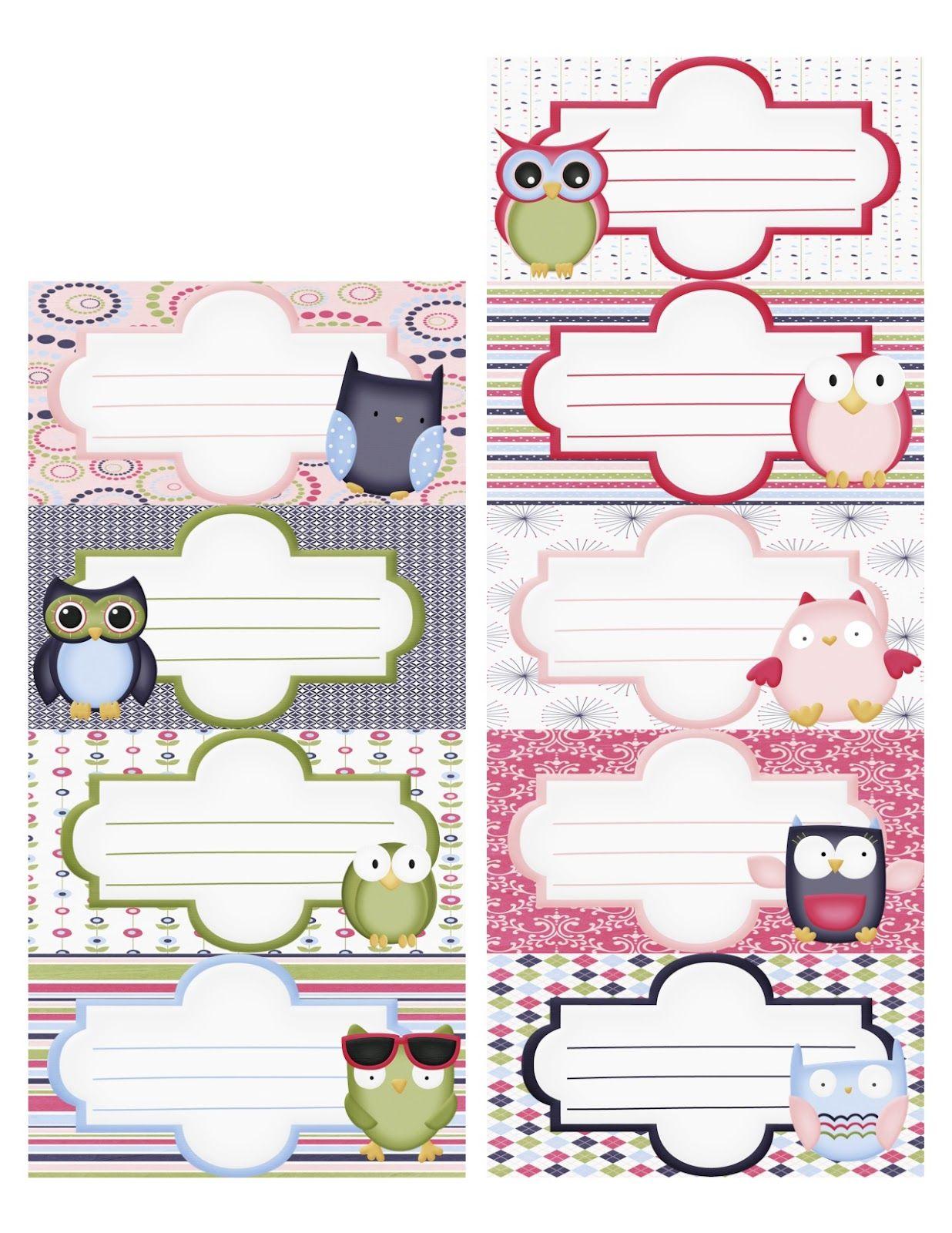 Notebook Labels Design