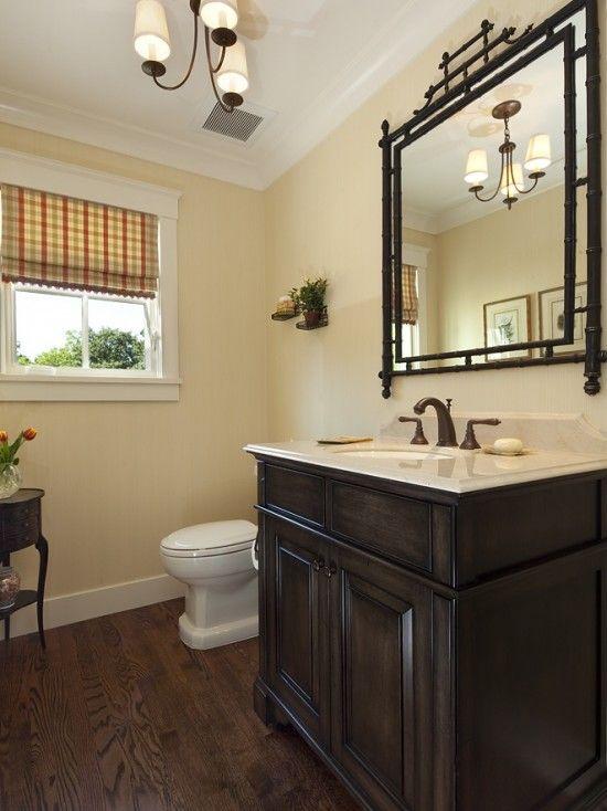 Pretty Half Bath Like The Light Fixture And Dark Wood Floor Dream House BATHROOMS