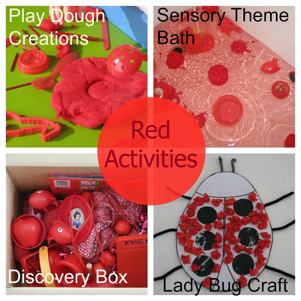 Color Red Activities