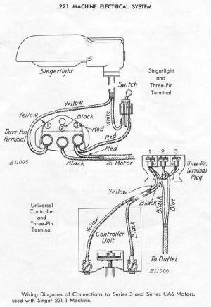 Featherweight Wiring Diagram | Sewing  Singer