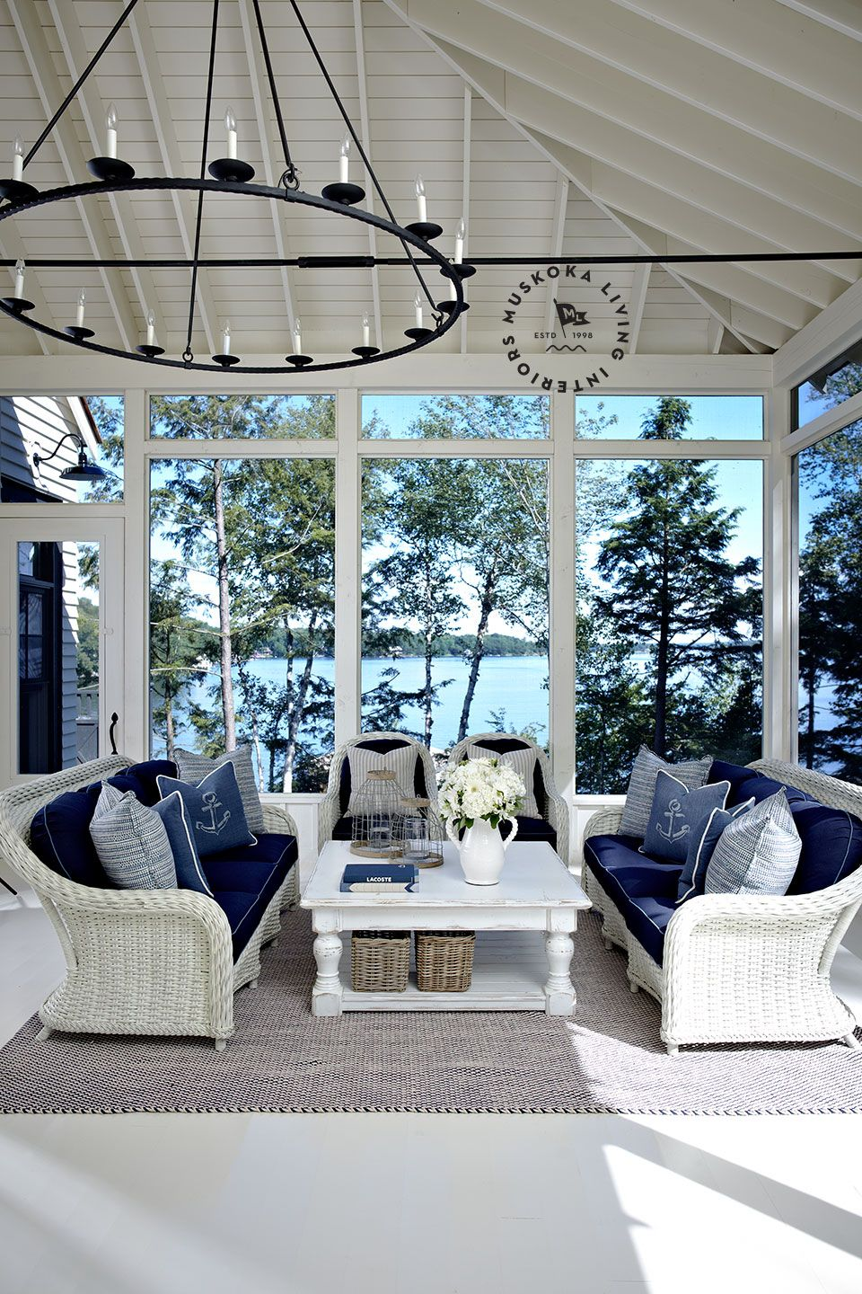 Outdoor Living on the porch Lakeside Muskoka Living