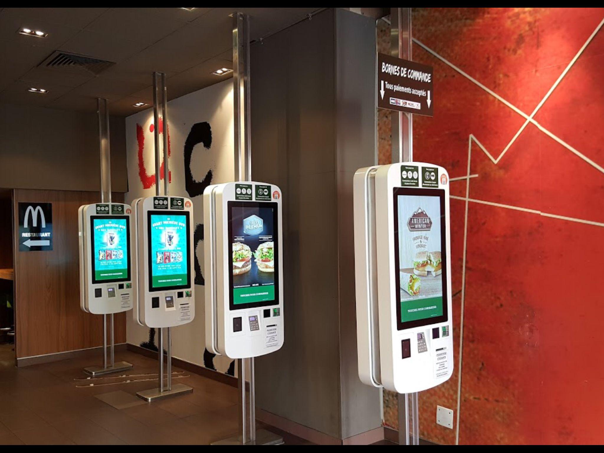 Self serve Kiosks, McDonalds, 20 Ave Jean Medecins, Nice