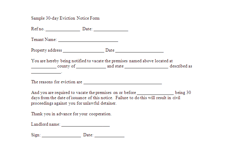 eviction notice template 20 free word pdf documents download – Legal Forms Eviction Notice