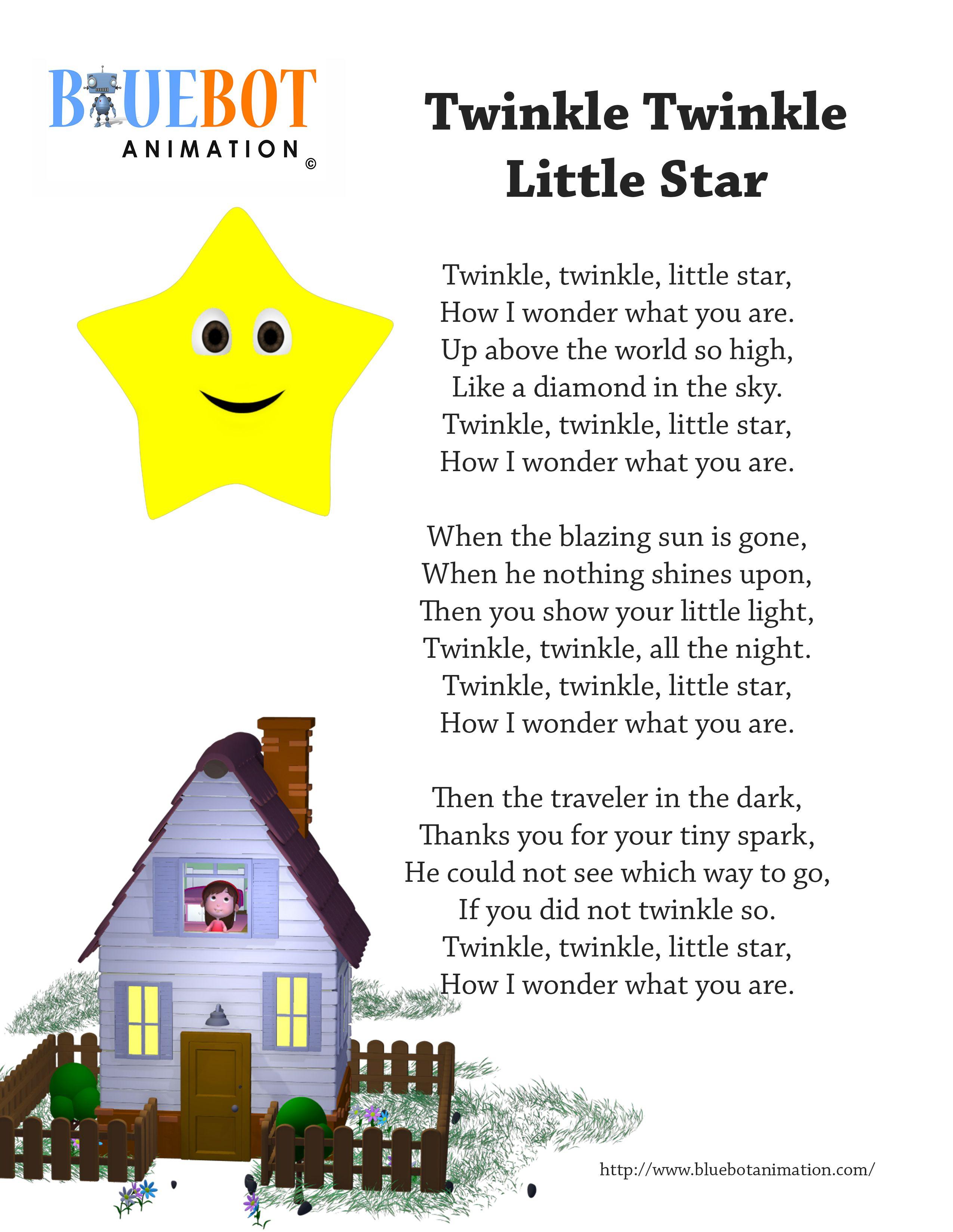 Twinkle Twinkle Little star nursery rhyme lyrics Free