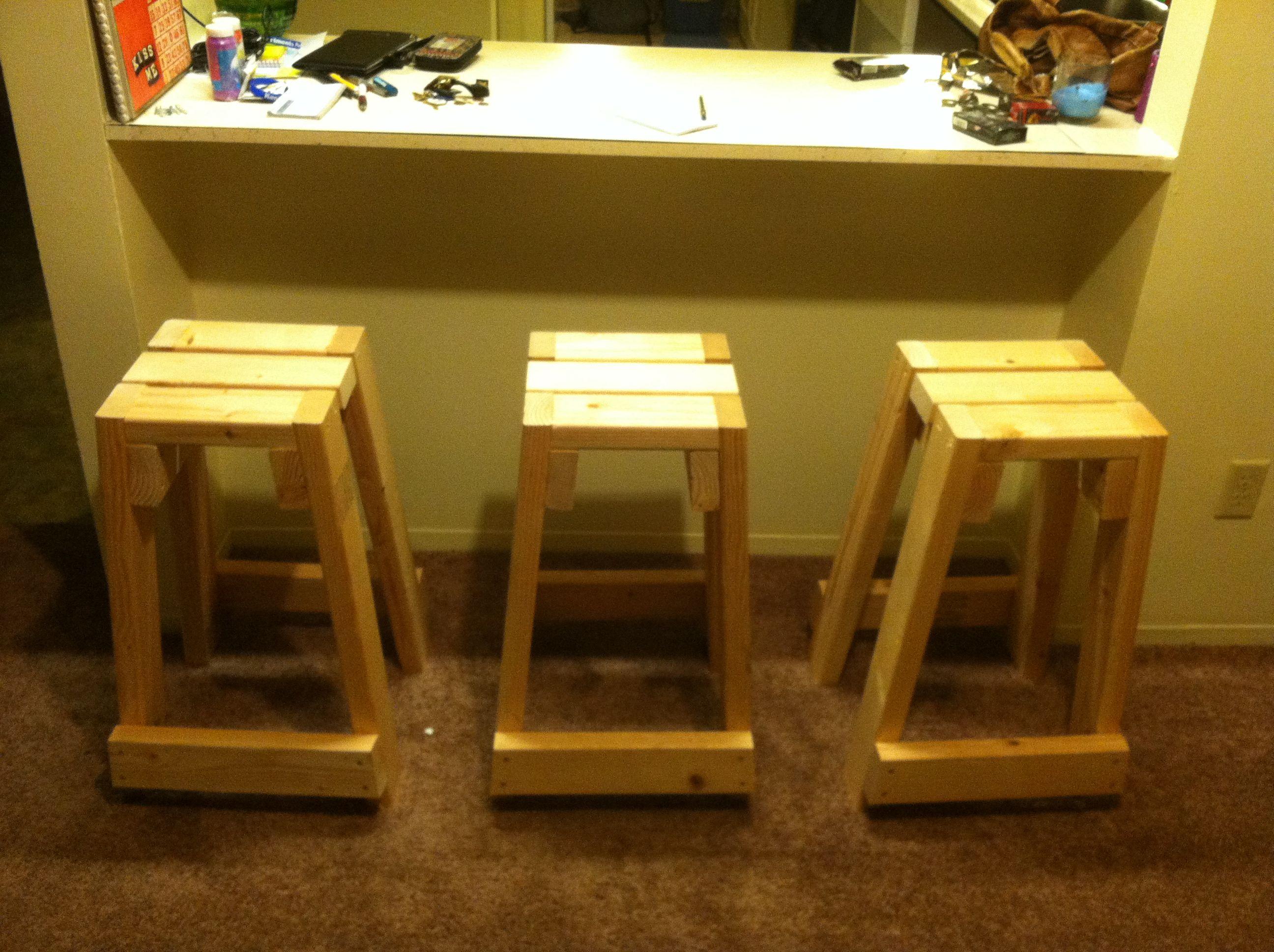 Quick build 2x4 stools My projects Pinterest Stools