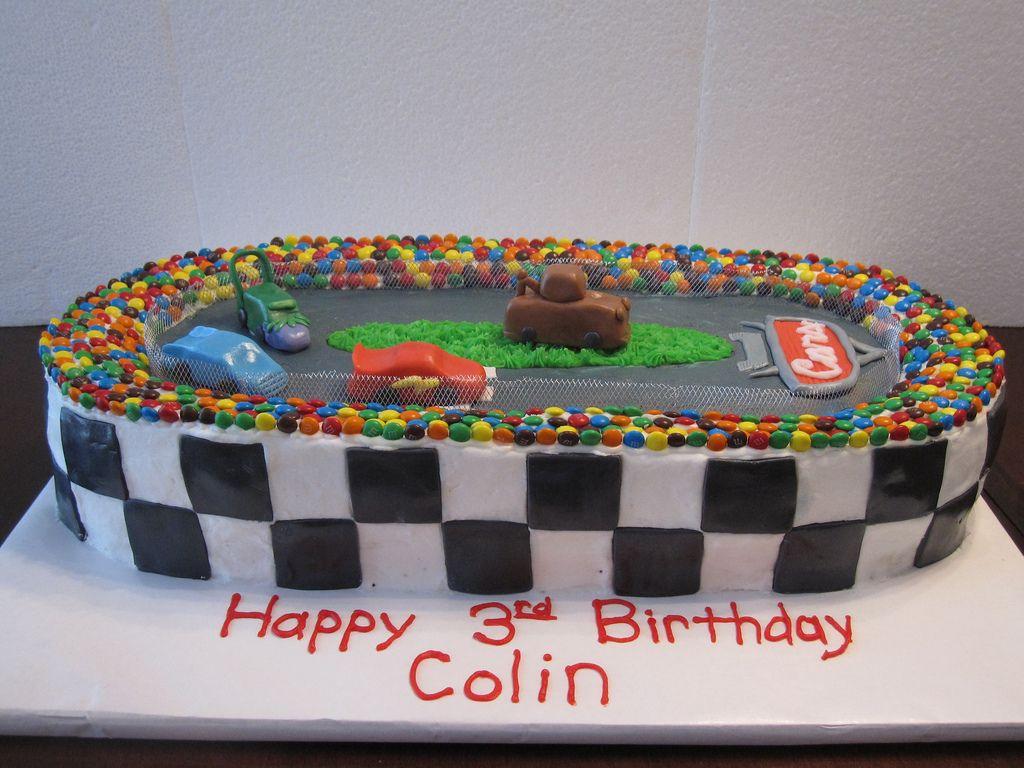Cars Race Track Birthday Cake
