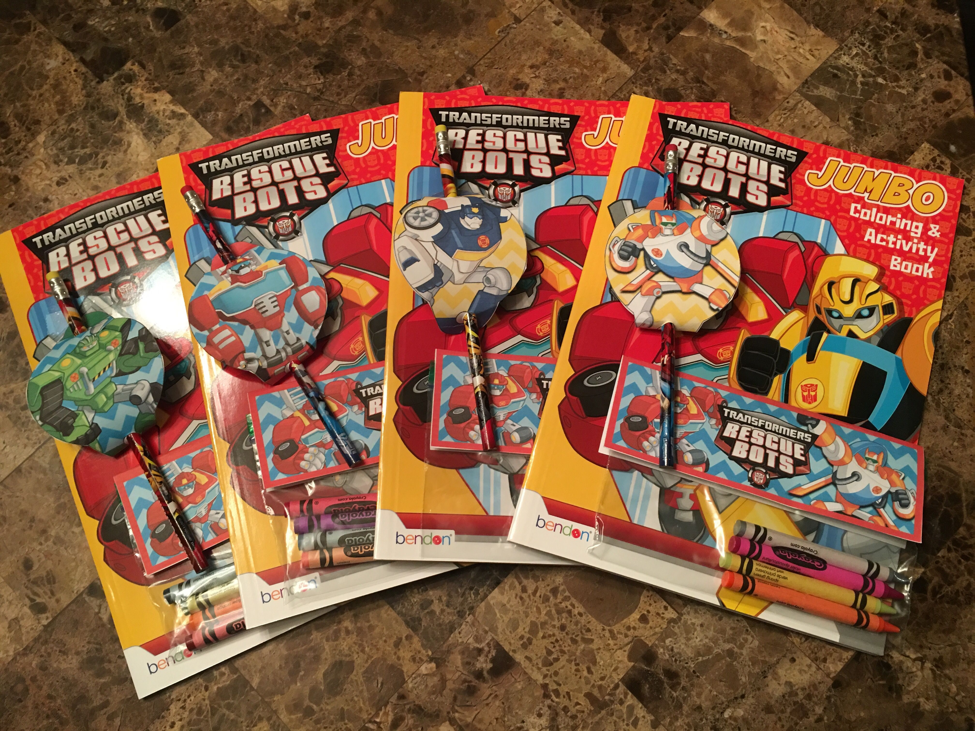 Transformers Rescue Bots Birthday Party Favors crayons
