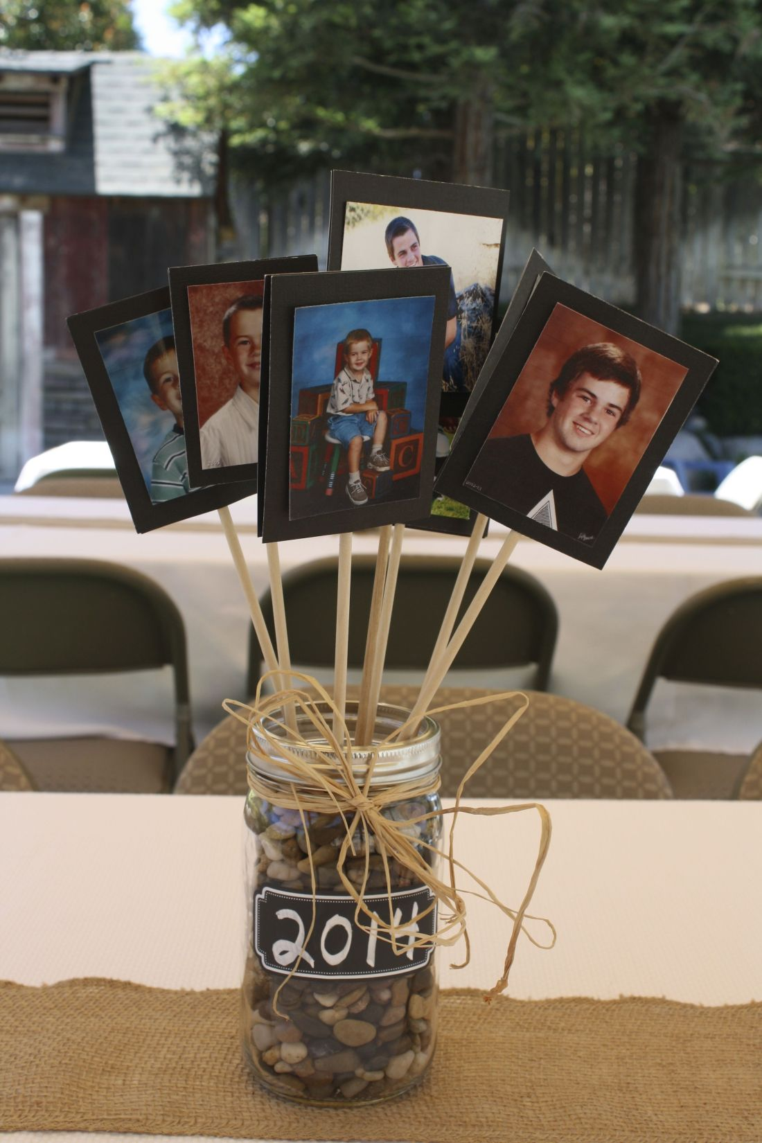 Centerpiece for tables at a graduation party good for
