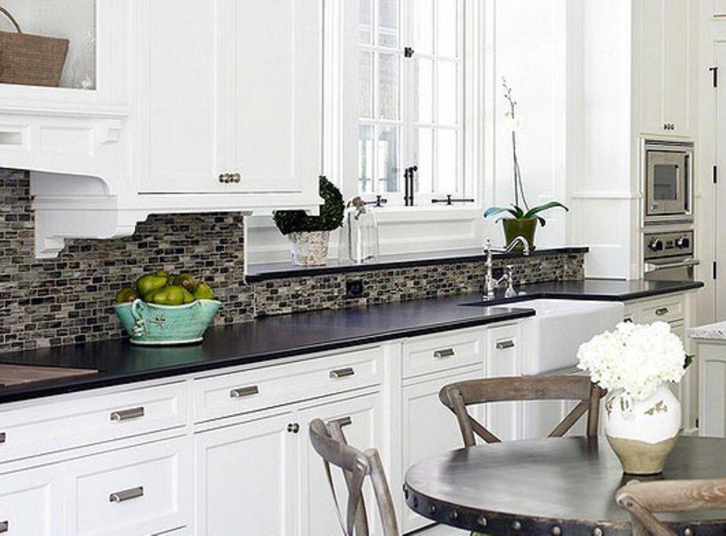 Backsplash for White and Black Granite