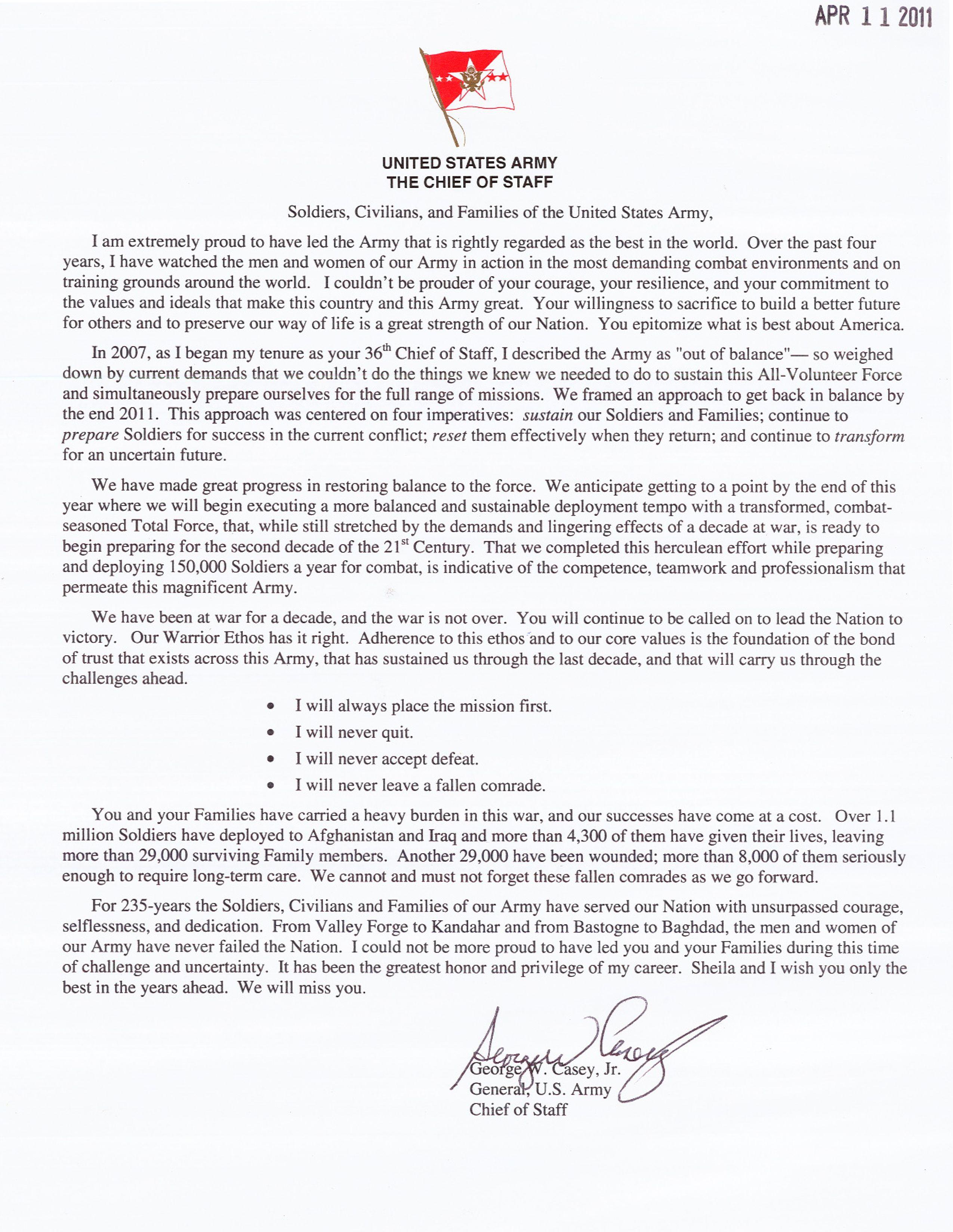 Casey Jr. Farewell LetterGoodbye Letter Formal letter